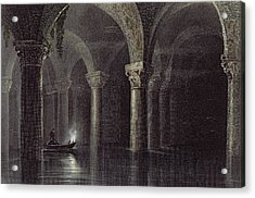 Yere Batan Serai Istanbul, Engraved Acrylic Print by William Henry Bartlett
