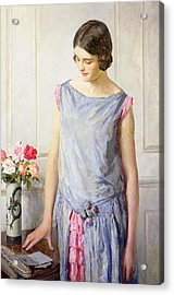Yes Or No Acrylic Print by William Henry Margetson