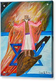 Acrylic Print featuring the painting Yeshua by Cassie Sears