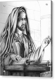 Yeshua In The Temple Acrylic Print by Marvin Barham
