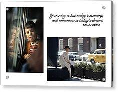 Yesterday Poster Acrylic Print