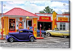 Yesterday's Shell Station Acrylic Print