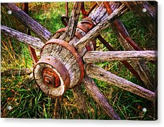 Yesterday's Wheel Acrylic Print by Marty Koch