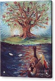 Yggdrasil - The Last Refuge Acrylic Print by Samantha Geernaert