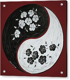 Yin And Yang Of Hibiscus  Acrylic Print