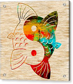 Yin Yang Koi Acrylic Print