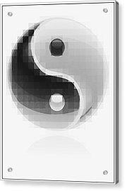 Yin Yang Mosaic Acrylic Print by Daniel Hagerman