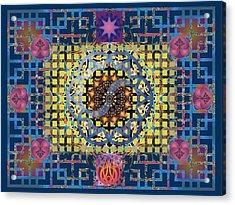 Yin Yang Star Acrylic Print