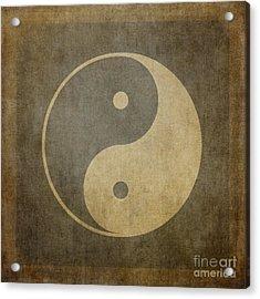 Yin Yang Vintage Acrylic Print by Jane Rix