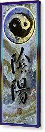 Yinyang Brush Calligraphy With Symbol Acrylic Print