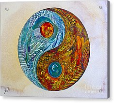 Acrylic Print featuring the painting Yinyang  by Suzette Kallen