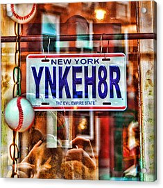 Ynkeh8r - Boston Acrylic Print by Joann Vitali