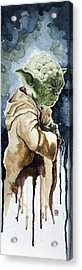 Yoda Acrylic Print by David Kraig