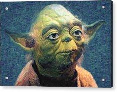 Yoda Acrylic Print by Taylan Apukovska
