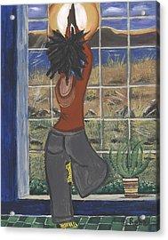 Yoga Acrylic Print by Reba Baptist