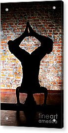 Yoga Silhouette 3 Acrylic Print by Shannon Beck-Coatney