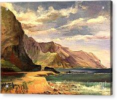 Yokahama Bay Oahu Hawaii - 1960's Acrylic Print