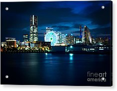 Yokohama Minatomirai At Night Acrylic Print