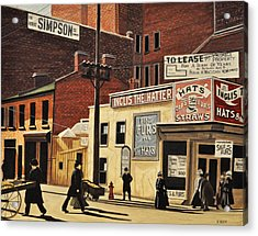 Acrylic Print featuring the painting Yonge And Richmond Streets 1899 by Kenneth M  Kirsch