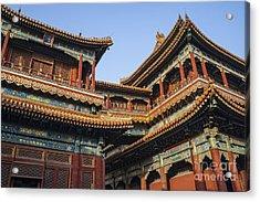 Yonghe Temple Aka Lama Temple In China Acrylic Print