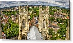 York From York Minster Tower Acrylic Print