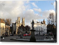 York Gallery Square Acrylic Print by Neil Finnemore