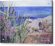 York Maine Acrylic Print by Carol Flagg