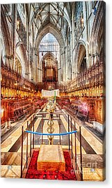 York Minster V Acrylic Print by Jack Torcello