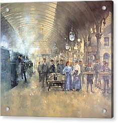 York Railway Station  Acrylic Print by Peter Miller