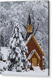 Yosemite Chapel Acrylic Print by Bill Gallagher