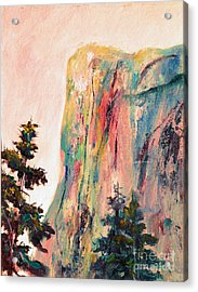 Yosemite El Capitan Acrylic Print by Carolyn Jarvis