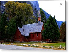 Acrylic Print featuring the photograph Yosemite Fall  Chapel  by Duncan Selby