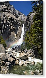 Yosemite Falls Rainbow Acrylic Print by Jane Rix