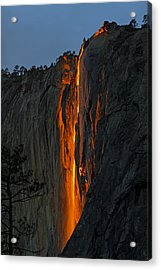 Acrylic Print featuring the photograph Yosemite Horsetail Falls by Duncan Selby