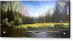 Acrylic Print featuring the painting Yosemite by Loxi Sibley
