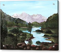 Yosemite Meadow Acrylic Print by Anastasiya Malakhova