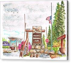 Yosemite National Park Ca-tioga Pass Entrance Acrylic Print by Carlos G Groppa