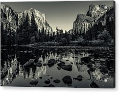 Yosemite National Park Valley View Reflection Acrylic Print by Scott McGuire