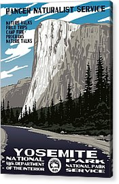 Yosemite National Park Vintage Poster 2 Acrylic Print by Eric Glaser