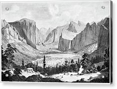 Yosemite Valley, 1855 Acrylic Print by Granger