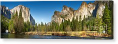 Yosemite Valley And Merced River Acrylic Print