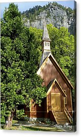 Acrylic Print featuring the photograph Yosemite Valley Chapel by Alex King
