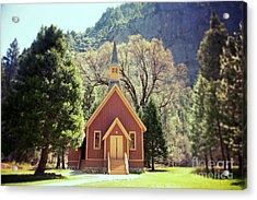 Yosemite Valley Chapel Lomo Acrylic Print by Jane Rix