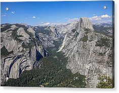 Yosemite Valley From Glacier Point Acrylic Print