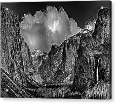 Yosemite Valley From Tunnel Acrylic Print by Bob and Nadine Johnston