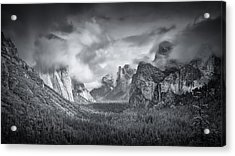 Yosemite Valley Acrylic Print by Mike Leske