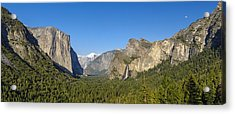 Acrylic Print featuring the photograph Yosemite Valley Moonrise by Steven Sparks