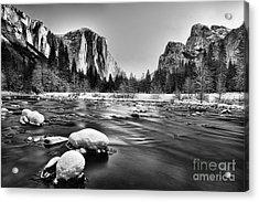 Yosemite Valley Acrylic Print by Peter Dang