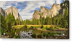Yosemite Valley View Panorama Acrylic Print