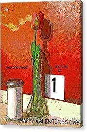 You Are Number 1 Acrylic Print by Joe Pratt